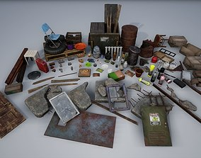 3D model Rubble Debris Trash Pack