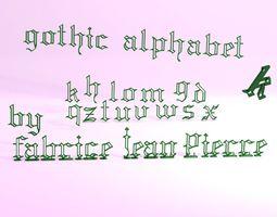 3D printable model Gothic Alphabet
