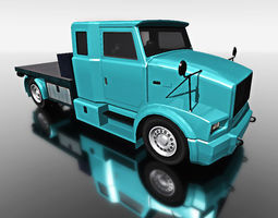 blue truck for games 3d