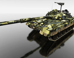 camouflage tank for games 3d