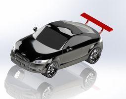 3d model audi surface