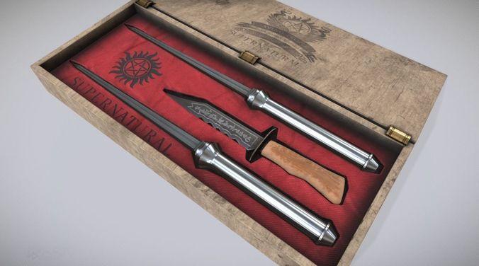 supernatural knife box 3d model obj mtl fbx ma mb 1