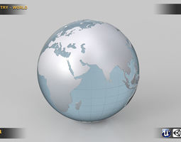 3D World Country Kit ocean-sea