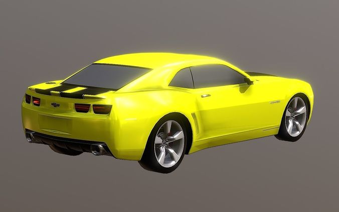 3D Model New 2019 Camaro Sports Car Coupe Convertible