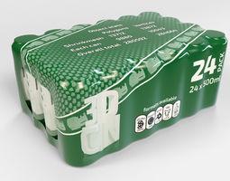 24 pack 500ml plastic shrinkwrapped beverage 3D