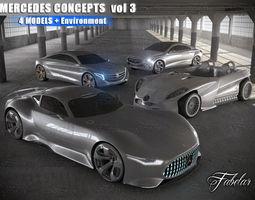 rigged mercedes concepts vol 3 3d model