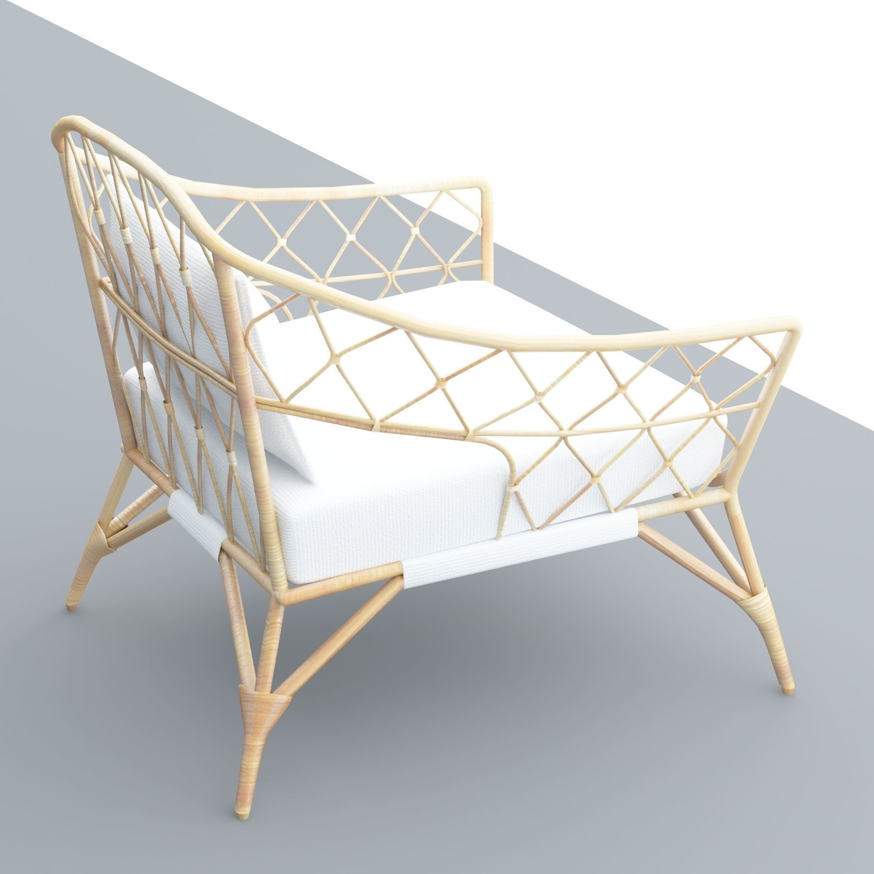 Stockholm Ikea Rattan Chair Model Low Poly Max Obj Mtl S Fbx Dae Skp