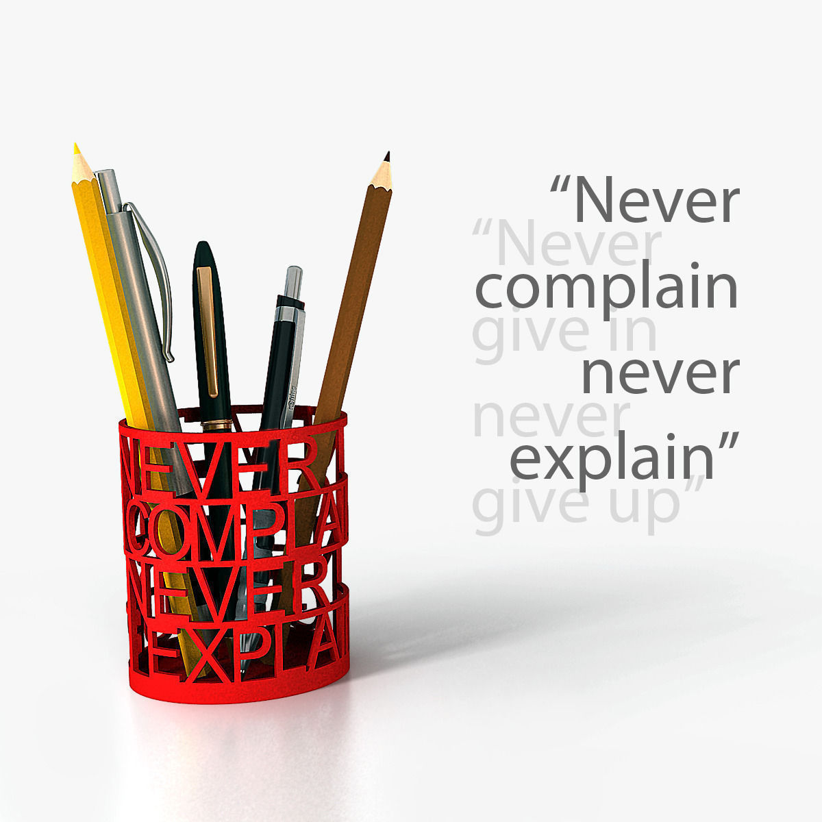 Quotes Pen Holder