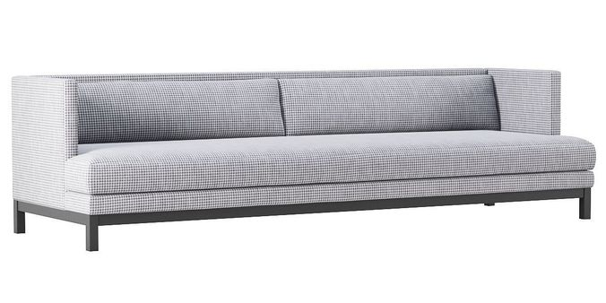Houndstooth Sofa Cb2 Brava Houndstooth Sofa Model Cgtrader