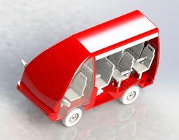 minibus 3D model