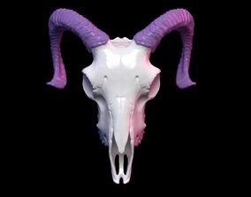 Goat skull 3D printable model