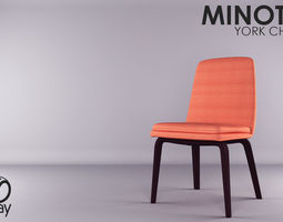 3D model Minotti - York Chair