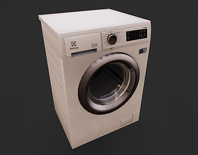3D model game-ready Washing Machine