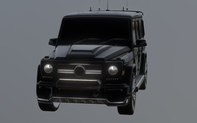 Mercedes Benz Brabus G Series 3d Model Obj Mtl 3ds Fbx Stl Blend Dae 1 ...