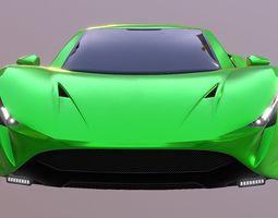 3D asset Super Sport CAR Prototype Supercar 2018