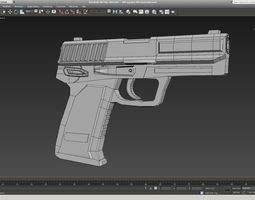 usp-9mm 3d model realtime
