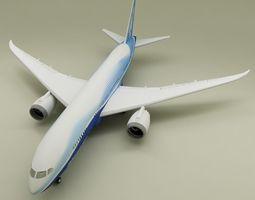 Boeing 787 3D model transportation