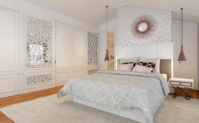 classic master bedroom ver 1 3d model max 1