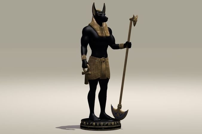 anubis egypt protector of the dead 3d model max fbx ma mb stl 1