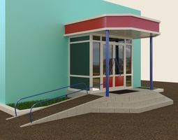 entrance to the store 3D model