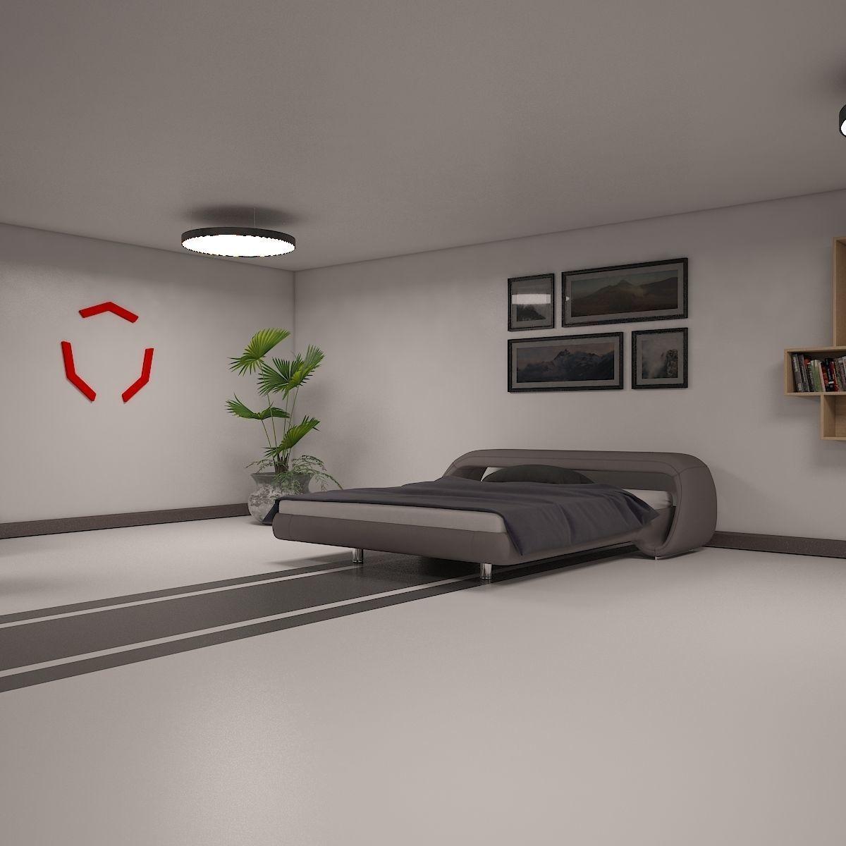 Sci Fi Bedroom 3d Model Max Obj Fbx Dwg