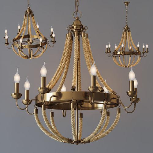3d model chandelier rattan chandelier metall 8 loft rope chandelier rattan chandelier metall 8 loft rope light 3d model aloadofball Image collections