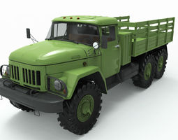 game-ready zil 131 3d model