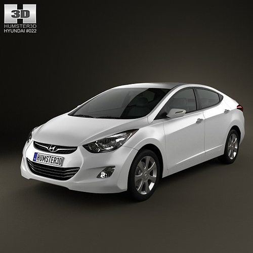 3d hyundai elantra i35 sedan 2012 cgtrader. Black Bedroom Furniture Sets. Home Design Ideas