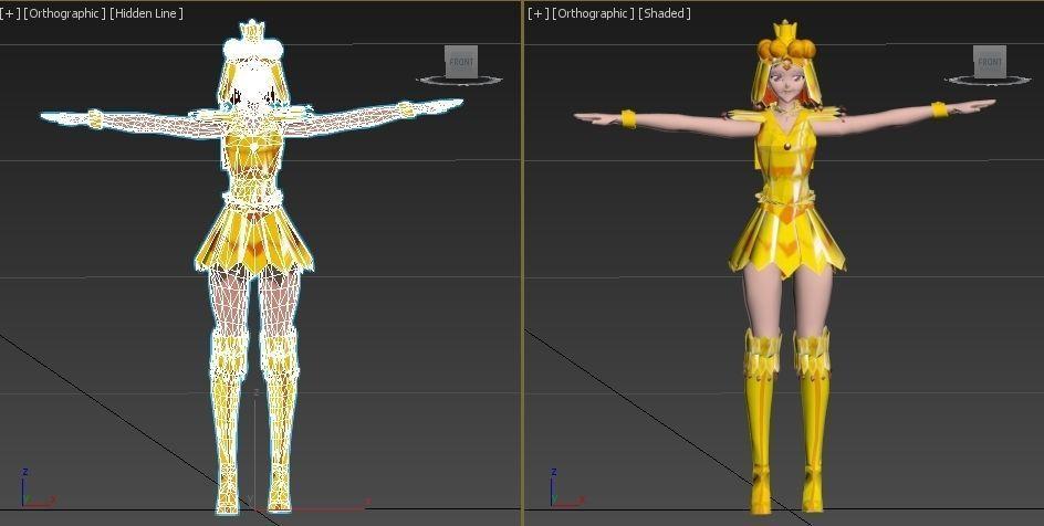 Sailor Galaxia sailor moon VR - AR - low-poly 3D model   3D model