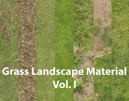 Grass Landscape Material Vol I 3D