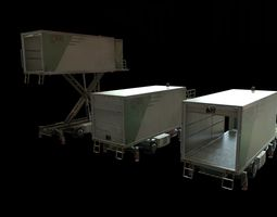 3D model Airport Catering Truck