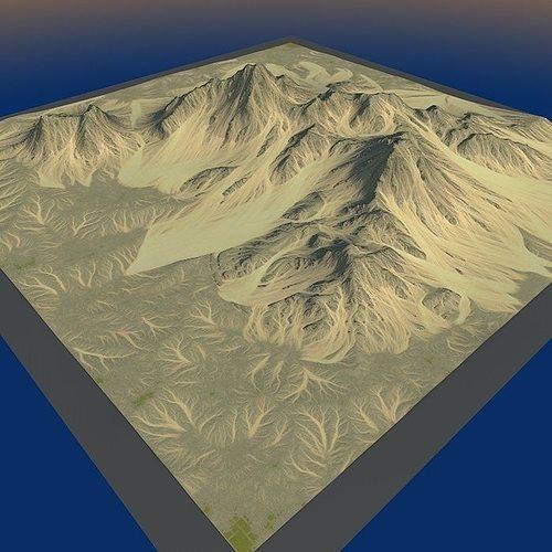 lowpoly mountain x4 3d model max obj mtl 3ds fbx c4d lwo lw lws 1