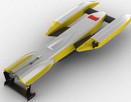 hydroplane boat annihilator 3d