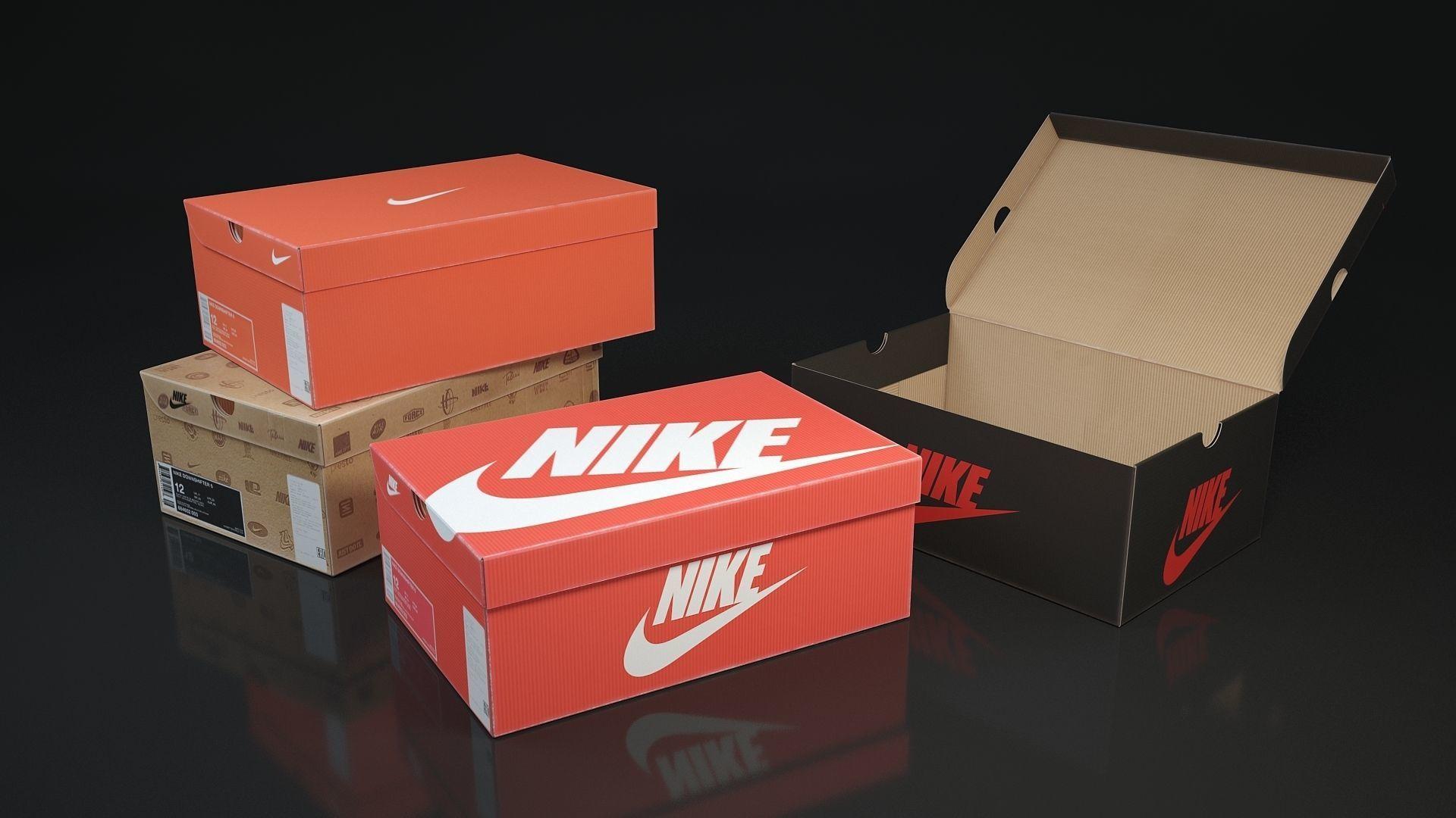 Shoe box Nike 3d