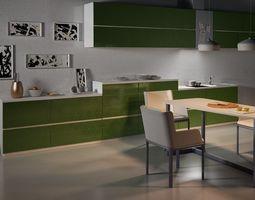 kitchen interior 002 cinema 4d vray 3d