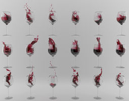 Red Wine Swirls For Advertising 3D