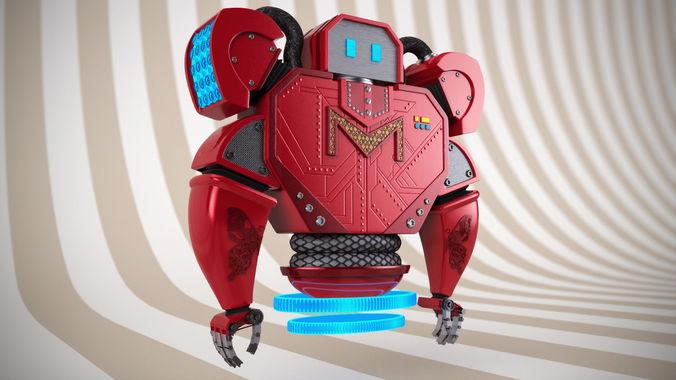 mel-robot sculpt 3d model ztl 1