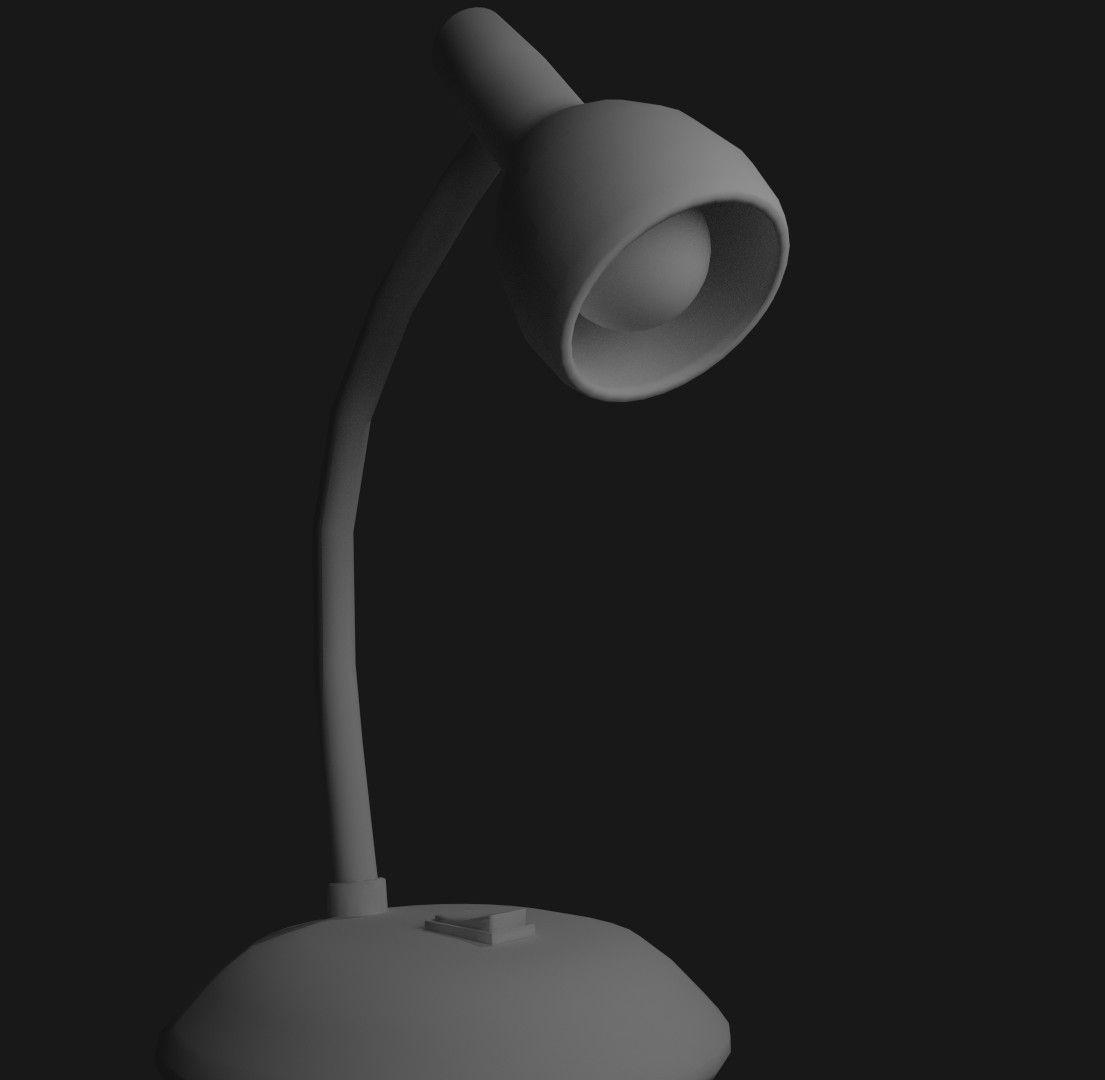 ... Low Poly Desk Lamp 3d Model Obj Mtl 3ds Blend Dae 2 ...