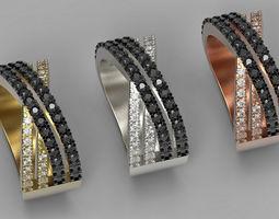 x cross diamond ring 3d print model for 3d printer
