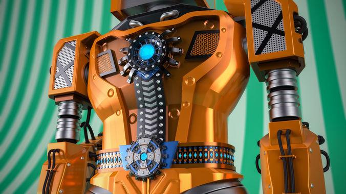 theboss-robot sculpt 3d model ztl 1