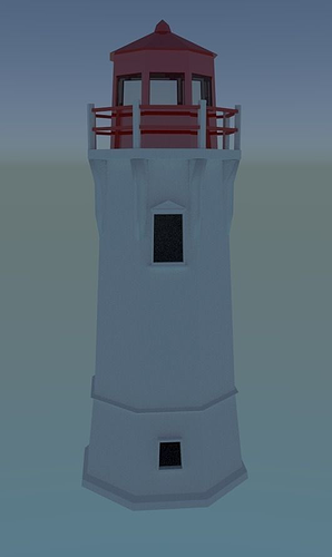 low poly lighthouse 3d model obj 3ds blend dae mtl 1