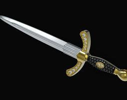 Sword 3d model for print mens pendant necklace 3dm stl