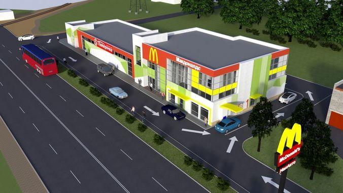 shopping center 3d model skp 1