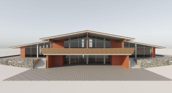 cozy private house 3d model max obj mtl fbx 1