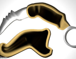 Karambit - double edge ancient army 3D