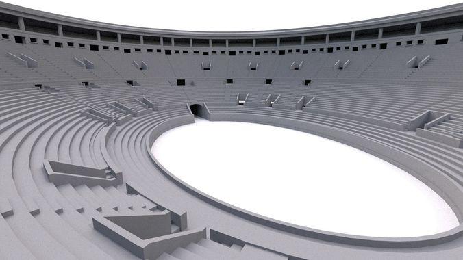 roman coliseum 3d model obj mtl fbx ma mb 1
