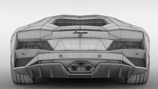 Lamborghini Aventador S 2018 3d Cgtrader
