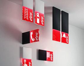Trasparenze Viabizzuno warning fire light 3D