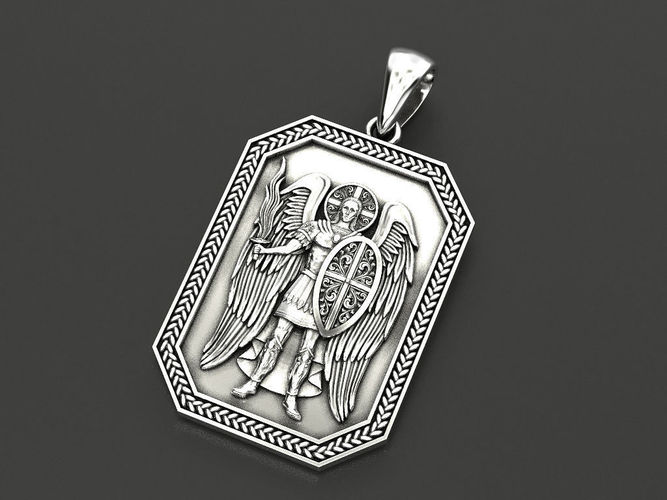 pendant archangel michael 2 3d model stl 3dm 1