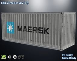 ship container old 3d asset game-ready